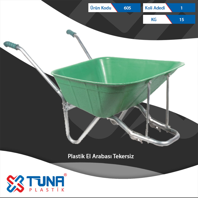 Plastic Wheelbarrow without Tire